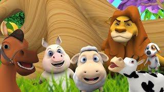 piosenki dźwiękowe zwierząt | Kołysanki | Filmy Dla Dzieci | Little Treehouse | Animal Sound Songs