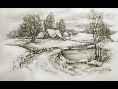 Pencil Sketches Landscapes Tutorial