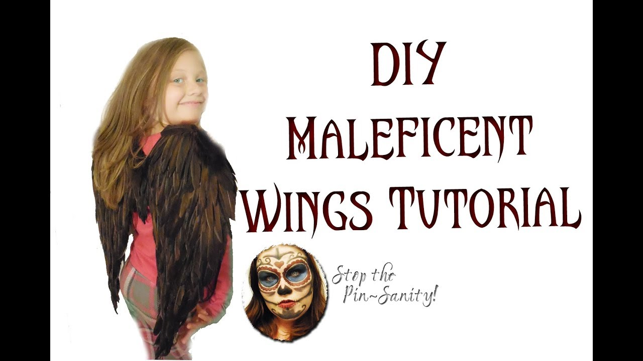 Diy Child Size Maleficent Wings Tutorial Stop The Pin Sanity
