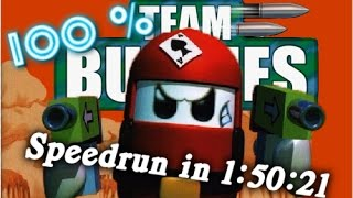 Team Buddies 100% Speedrun in 1:50:21 (WR)(HD720p)(2015)(single-segment) by BringerZ
