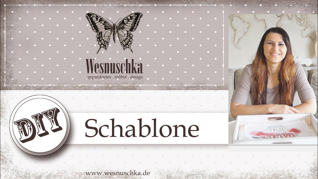 diy schablone selber machen shabby chic how do i make a stencil youtube. Black Bedroom Furniture Sets. Home Design Ideas