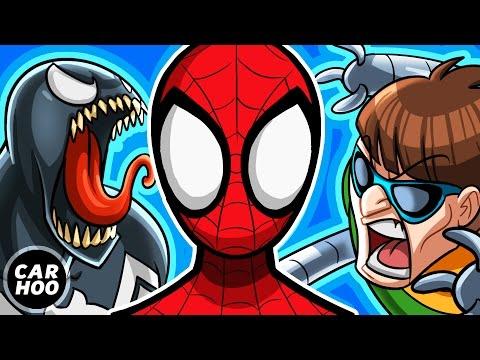 Spiderman vs Venom + Green Goblin + Doctor Octopus [ Superheroes Parody ]