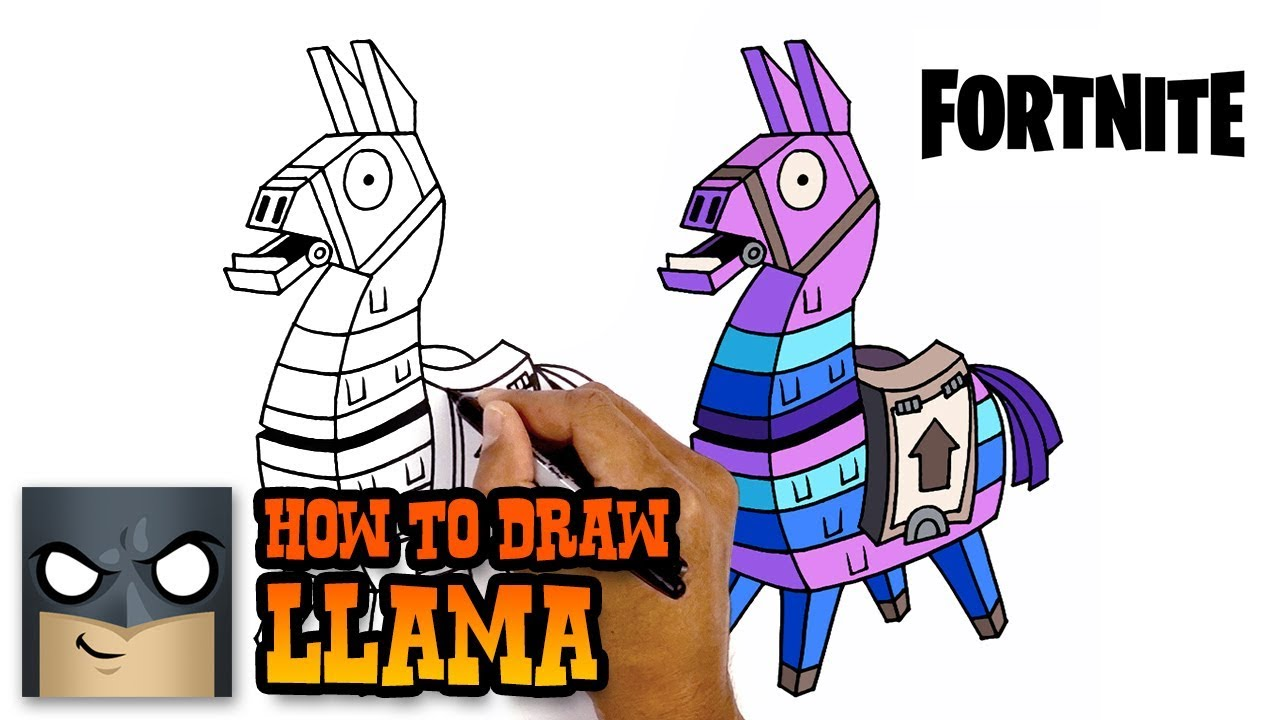 How to draw fortnite llama step by step youtube - Lama pictures fortnite ...