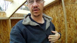 Roof Rafter Trusses And Strapping Review - 59 - My Diy Garage Build Hd Time Lapse