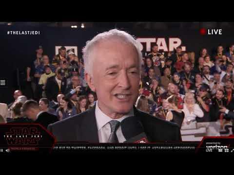 Anthony Daniels C-3P0 interview - Star Wars The Last Jedi Red Carpet World Premiere