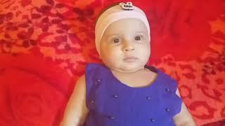 أريج الطفلة مدللة بالباس أزرق استيقضت باكرا و قامت بالاستحمام و هده هي نصائحها للأطفال