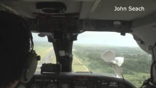 Landing on grass runway, Port Vila, Vanuatu