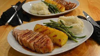 Seared Pork Loin Chops With Soy-honey Glaze