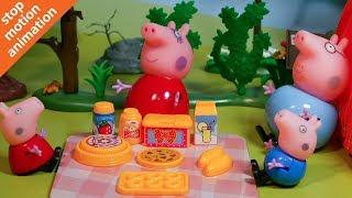 Свинка Пеппа 🐷 отдых на природе. Мультик из игрушек Peppa Pig на русском.