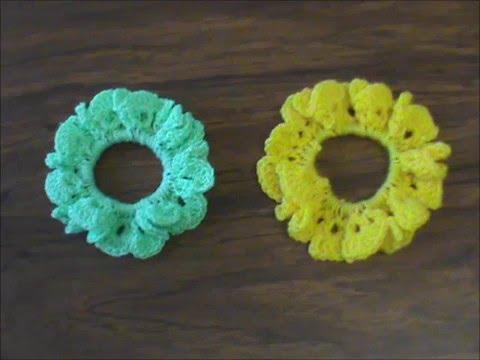 Dona para el cabello tejida a crochet. - YouTube