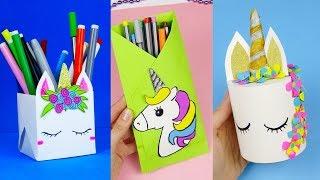 9 DIY Unicorn School Supplies | Unicorn Crafts