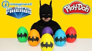 Batman Play-Doh Surprise Eggs DC Super Friends Heroes And Villains  Opening Fun With Ckn Toys