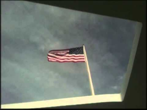 American Flag at AZ memorial Pearl Harbor Hawaii