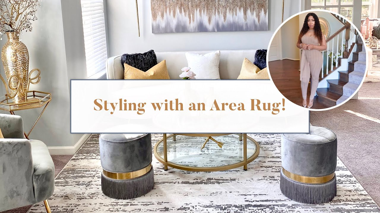 Home Decor Styling With An Area Rug Youtube