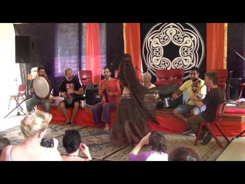 Bellydancer Aya performing with band