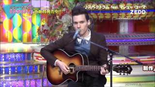 Zedd on Japan TV (Spectrum feat.  Matthew Koma Acoustic Version)