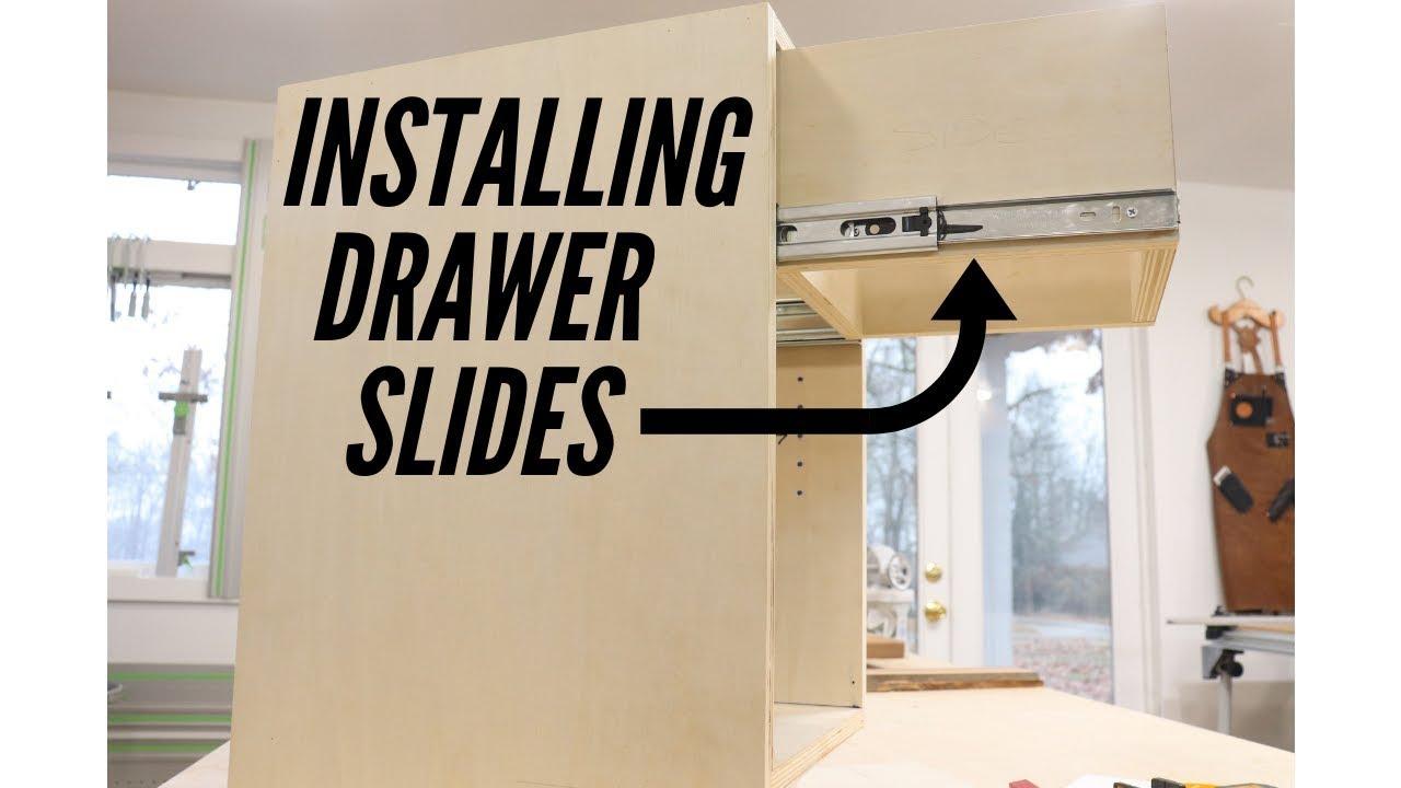Installing Full Extension Drawer Slides Youtube