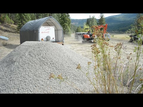 "Living off the Grid: Paving Our Driveway with Gravel (3/4"" Minus Rock)"