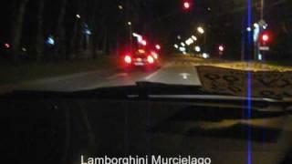 Lamborghini Murcielago and Mercedes McLaren SLR vs AUDI RS6