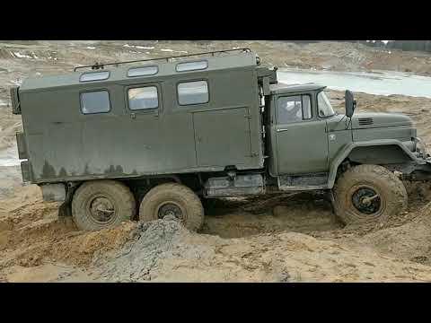 ЗИЛ 131 с двигателем КамАЗ испытания ходом!!!