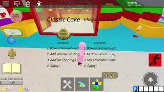 로블록스 케이크 만들기 초콜릿 케이크편
