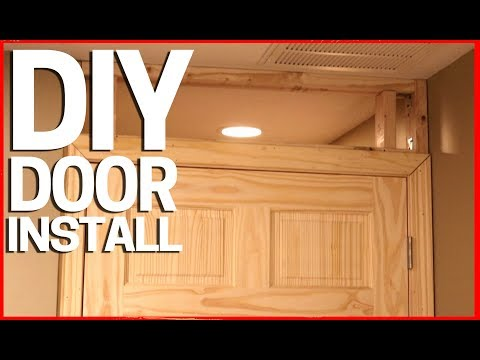 How to Install a New Door in an Existing Room over Drywall