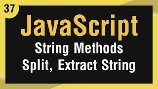 [ JavaScript In Arabic ] #37 - Strings Methods - Split A String