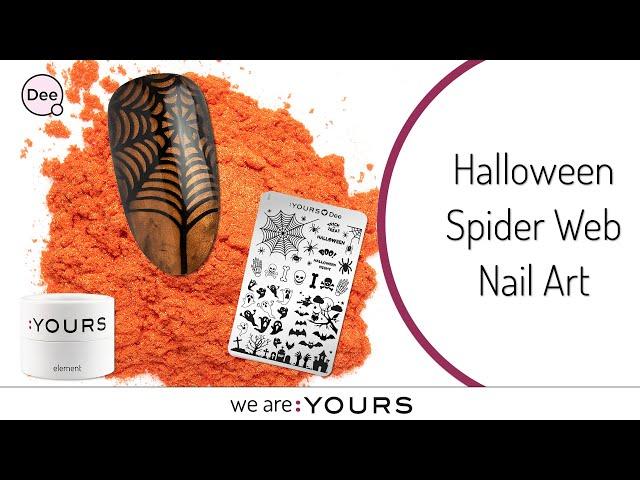 Halloween Spider Web Nail Art