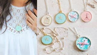 DIY Necklaces: Chanel, Lace, Starfish, & Paris (Resin/Mod Podge)