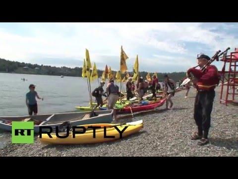 Canada: Kayak blockade protests tar sands pipeline near Vancouver