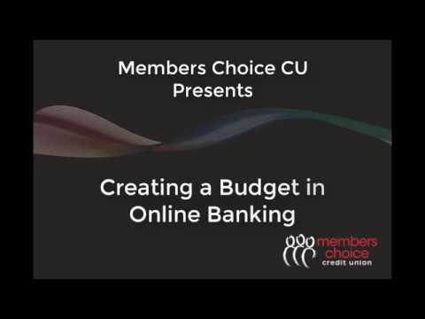 online banking creating a budget youtube