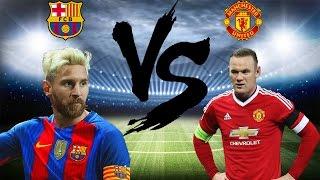 Pes 2017 - fc barcelona vs manchester united highlights