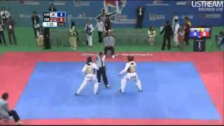 Hwang Kyung-Seon (KOR) v Sarah Stevenson (GBR) | 2011 World Taekwondo Champs