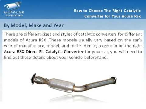 How To Choose The Right Catalytic Converter For Your Acura RSX YouTube - Acura rsx catalytic converter