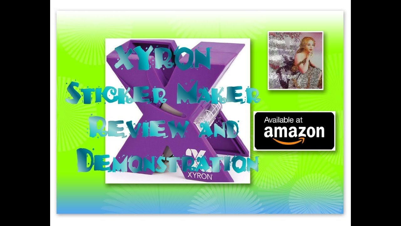 **NEW** Diamond Painting Tool - XYRON Sticker Maker Review and Demonstration