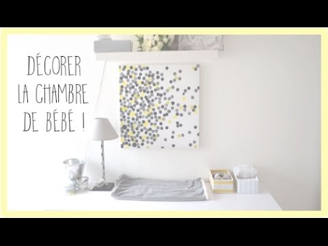 diy d corer la chambre de b b za na youtube. Black Bedroom Furniture Sets. Home Design Ideas