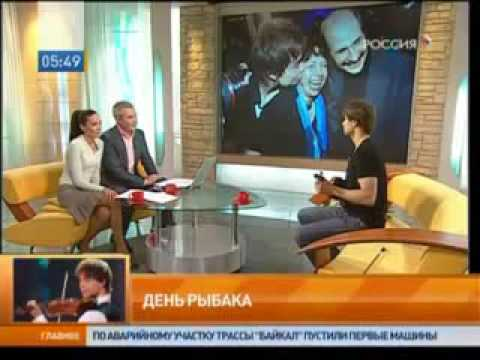 "Alexander Rybak  - ""Good morning Russia"" Interview 23.10.09"