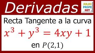 julioprofe explica cómo encontrar la ecuación de la recta tangente ...