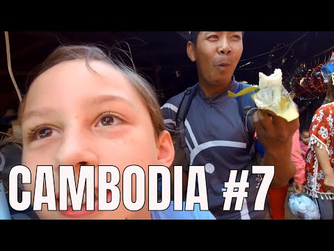 Family Vacation in Cambodia 😋 Local Food Market Trip (2018)