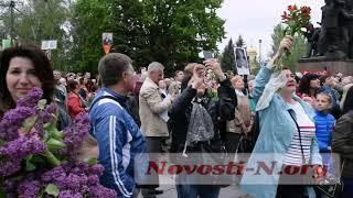 Видео Новостей-N: Полет журавлей над площадью в День Победы