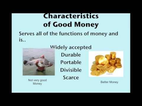 Functions and Characteristics of Money 2016