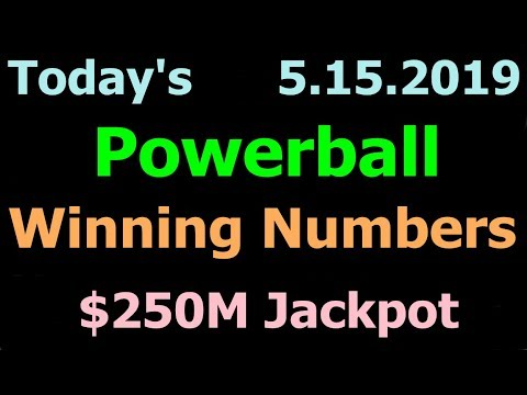 Today Powerball Winning Numbers 15 May 2019. Powerball drawing tonight Wednesday 5/15/2019
