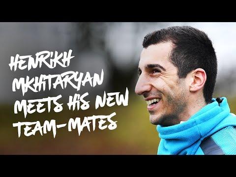 Henrikh Mkhitaryan meets his new team-mates