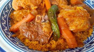 Кускус. Мясо с овощами и соусом.Cuscus.