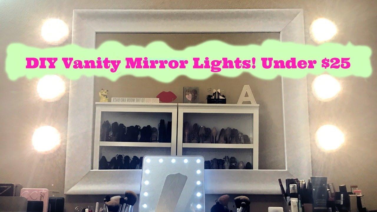 HOW TO: DIY VANITY MIRROR LIGHT! UNDER $25!