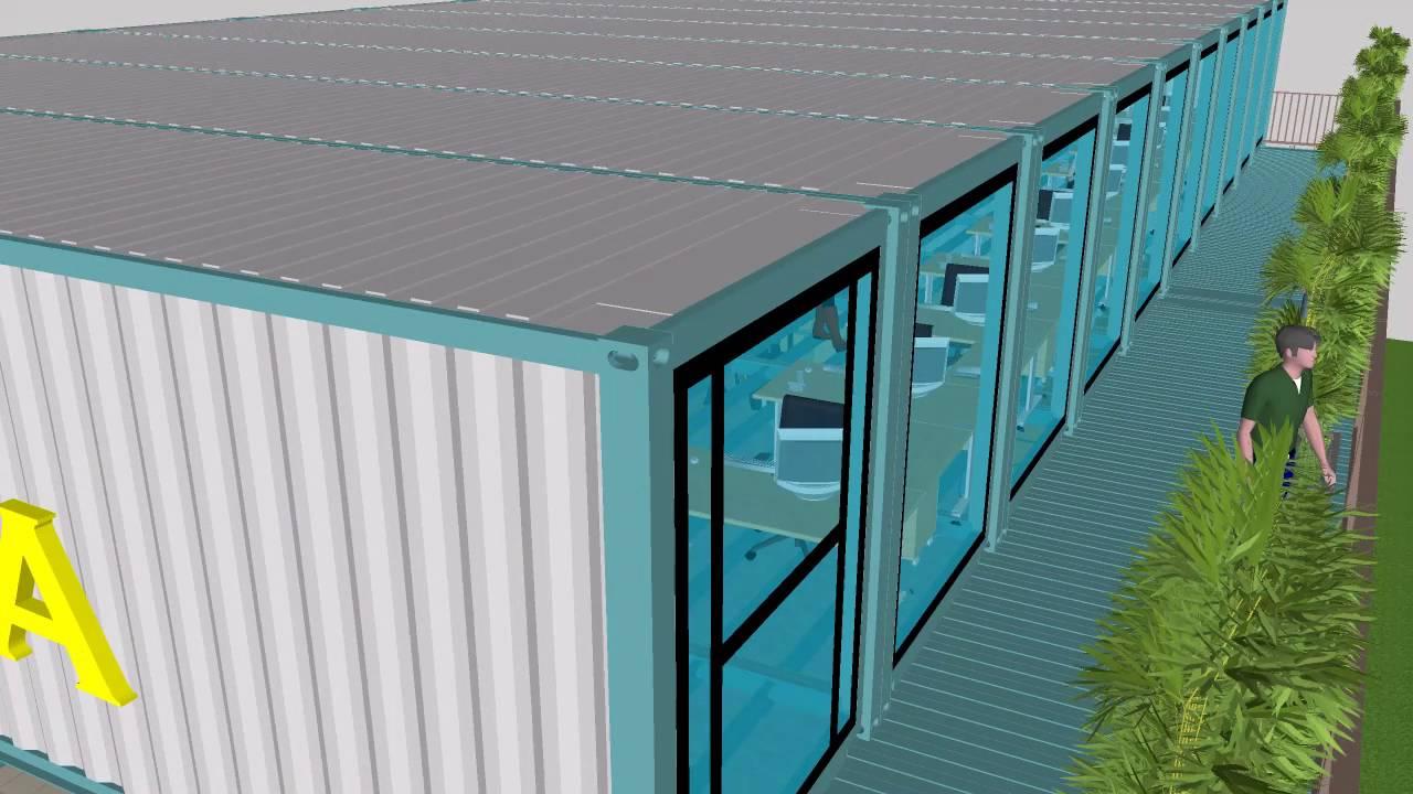 Ufficio A Container : Container capannone ufficio logistica magazzino architettura