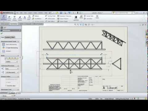 Solidworks shop drawing tutorial - YouTube