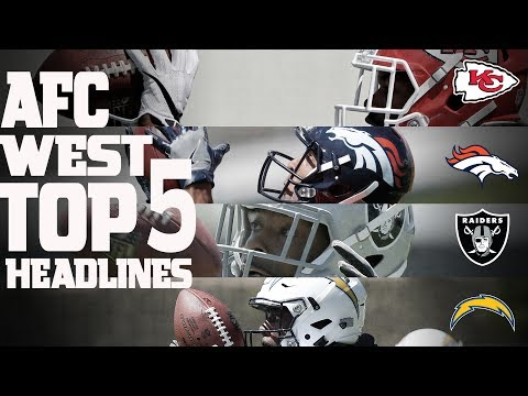 AFC West Top 5 Offseason Headlines Heading into the 2017 Season! | NFL NOW