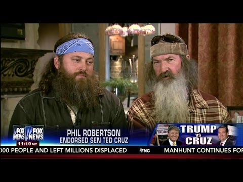 Duck Dynasty Stars Split on GOP Candidate Support - Phil Robertson - Willie Robertson