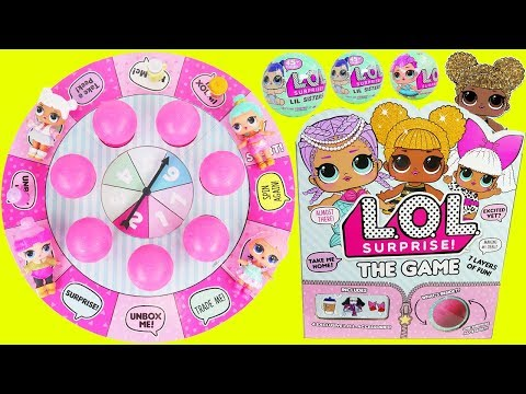 LOL Surprise Dolls Board Game Lil Sisters Queen Bee Rare Baby McDonalds Drive Thru Prank Sleepover!